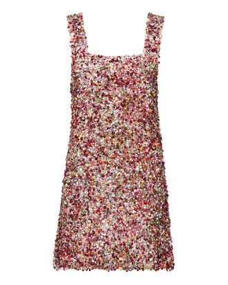 Gina Multicolor Sequin Mini Dress, MULTI, hi-res