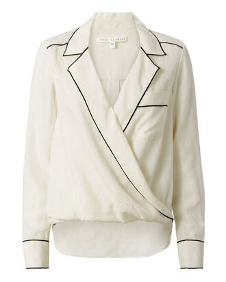 Worth Silk Blouse, WHITE, hi-res