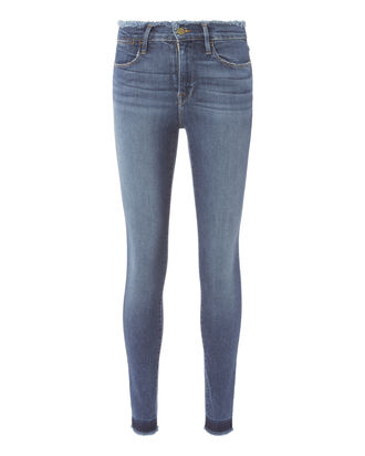 Le High Skinny Frayed Jeans, DENIM, hi-res
