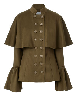 Johan Bell Sleeve Coat, OLIVE/ARMY, hi-res