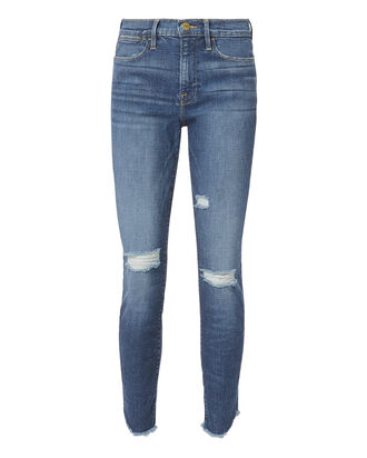 Le High Skinny Crop Jeans, DENIM, hi-res