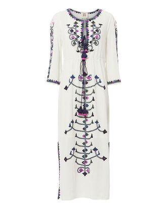 Nadia Embroidered Dress, IVORY, hi-res