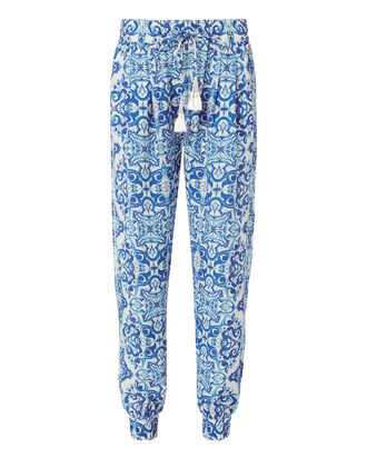 Tassel Printed Jogger Pants, PRI-ABSTRACT, hi-res