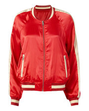 Colorblock Red Reversible Track Jacket, RED, hi-res