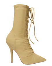 Dollar Lace-Up Booties, GREEN, hi-res