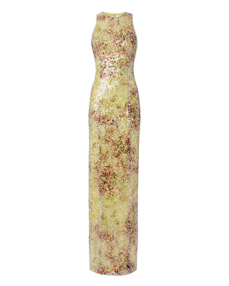 Miraflores Sequin Dress, PRINT, hi-res
