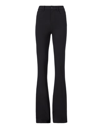 Lola Knit Bell Bottom Pants, BLACK, hi-res