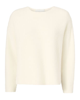 Oversized Cropped Sweater, IVORY, hi-res