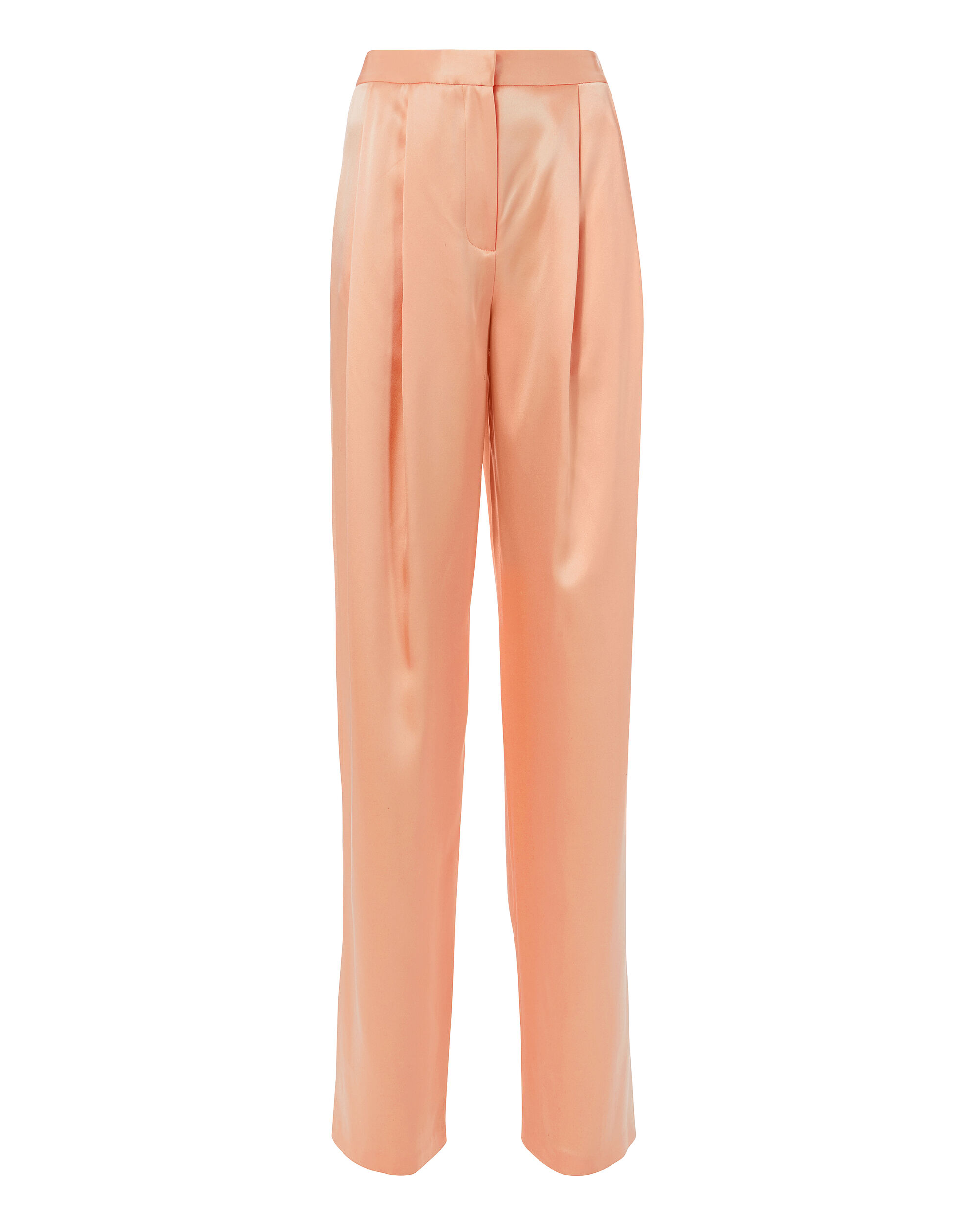 Pleated Silk Trousers, PINK, hi-res