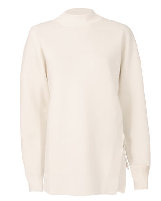 Side Link Sweater, WHITE, hi-res