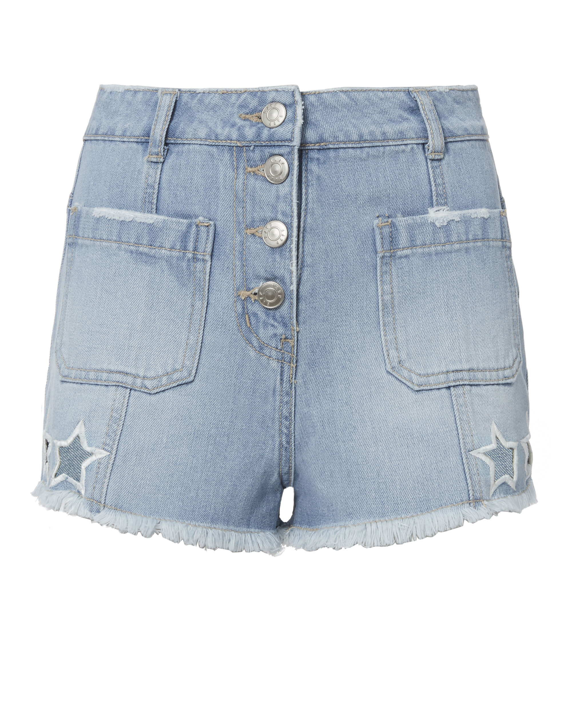 Star Cutout Shorts, BLUE, hi-res