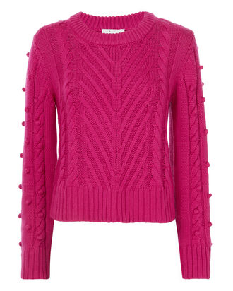 Aubry Pom-Pom Knit Sweater, PINK, hi-res