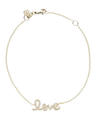 Mini Pavé Love Bracelet, GOLD, hi-res