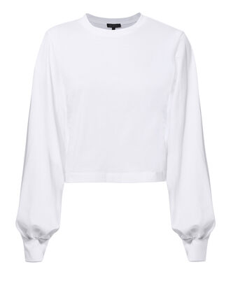 Stark Cropped Tee, WHITE, hi-res