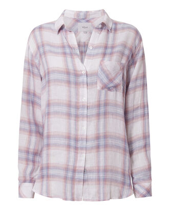 Charli Bluebell Plaid Top, PATTERN, hi-res