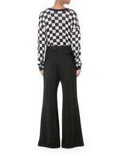 Black Wide Leg Snap Pants, BLACK, hi-res