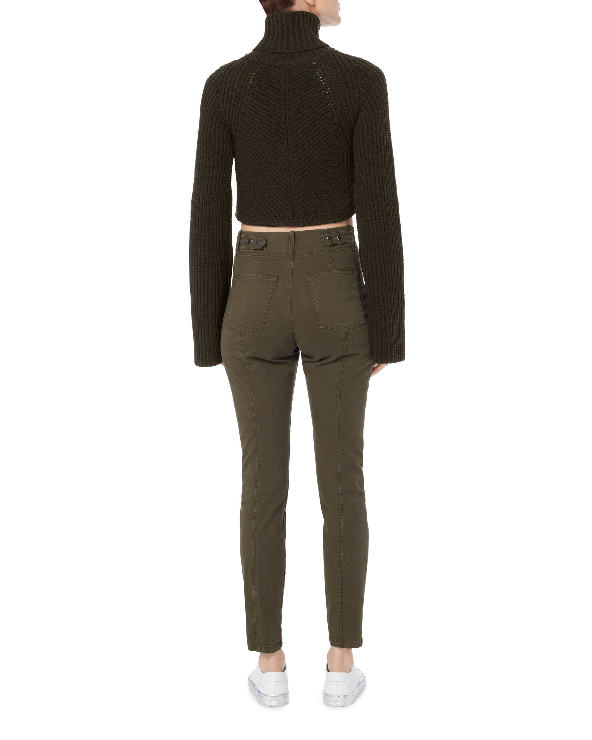 Irvyn Cropped Turtleneck Sweater, EMERALD, hi-res