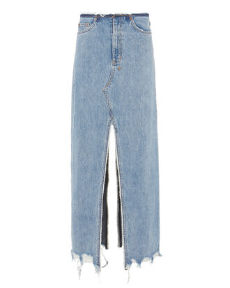 Muse Denim Maxi Skirt, DENIM, hi-res