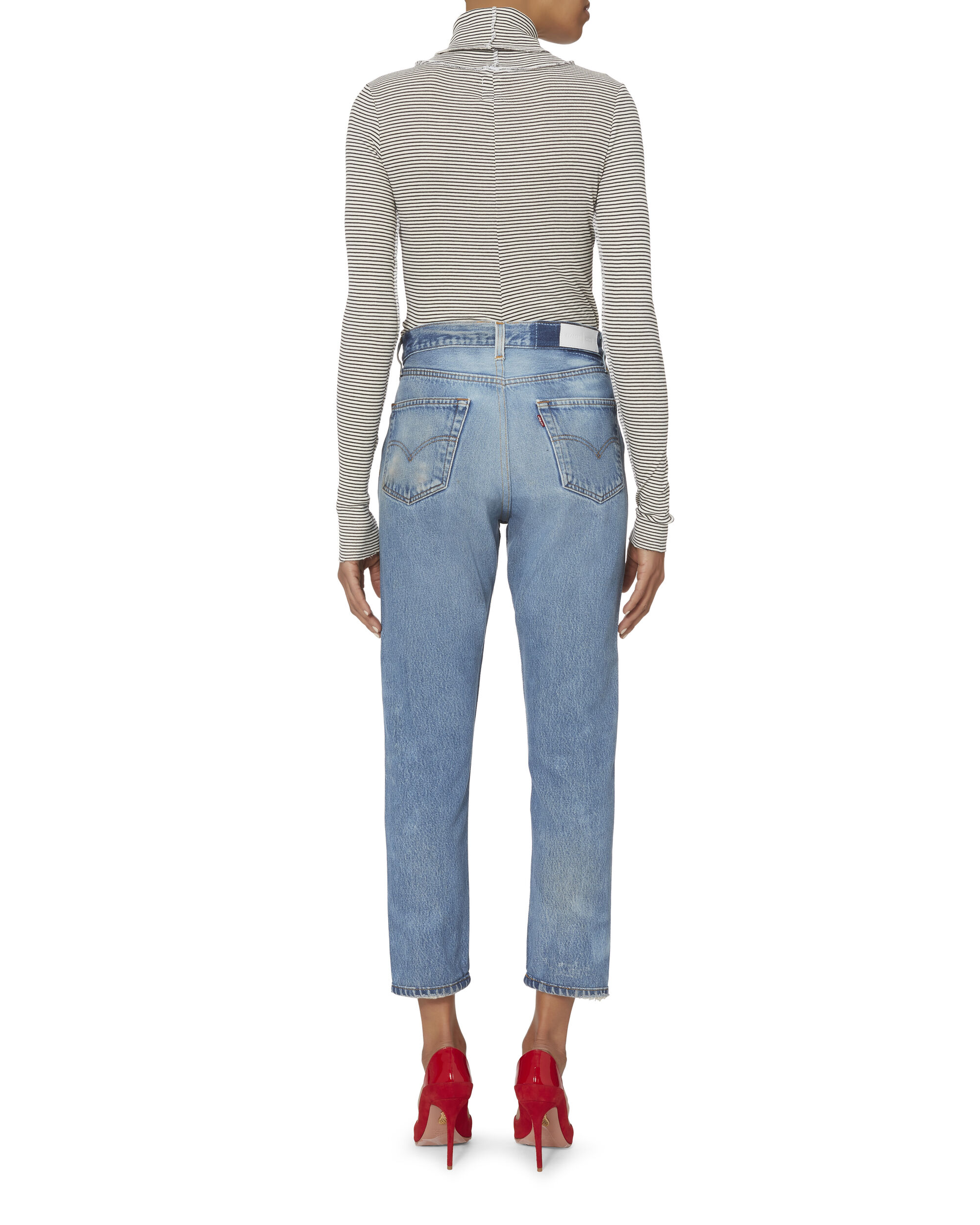High-Rise Crop Jeans, DENIM-MED, hi-res