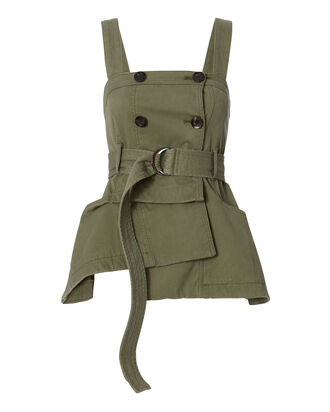 Lani Trench Vest, GREEN, hi-res