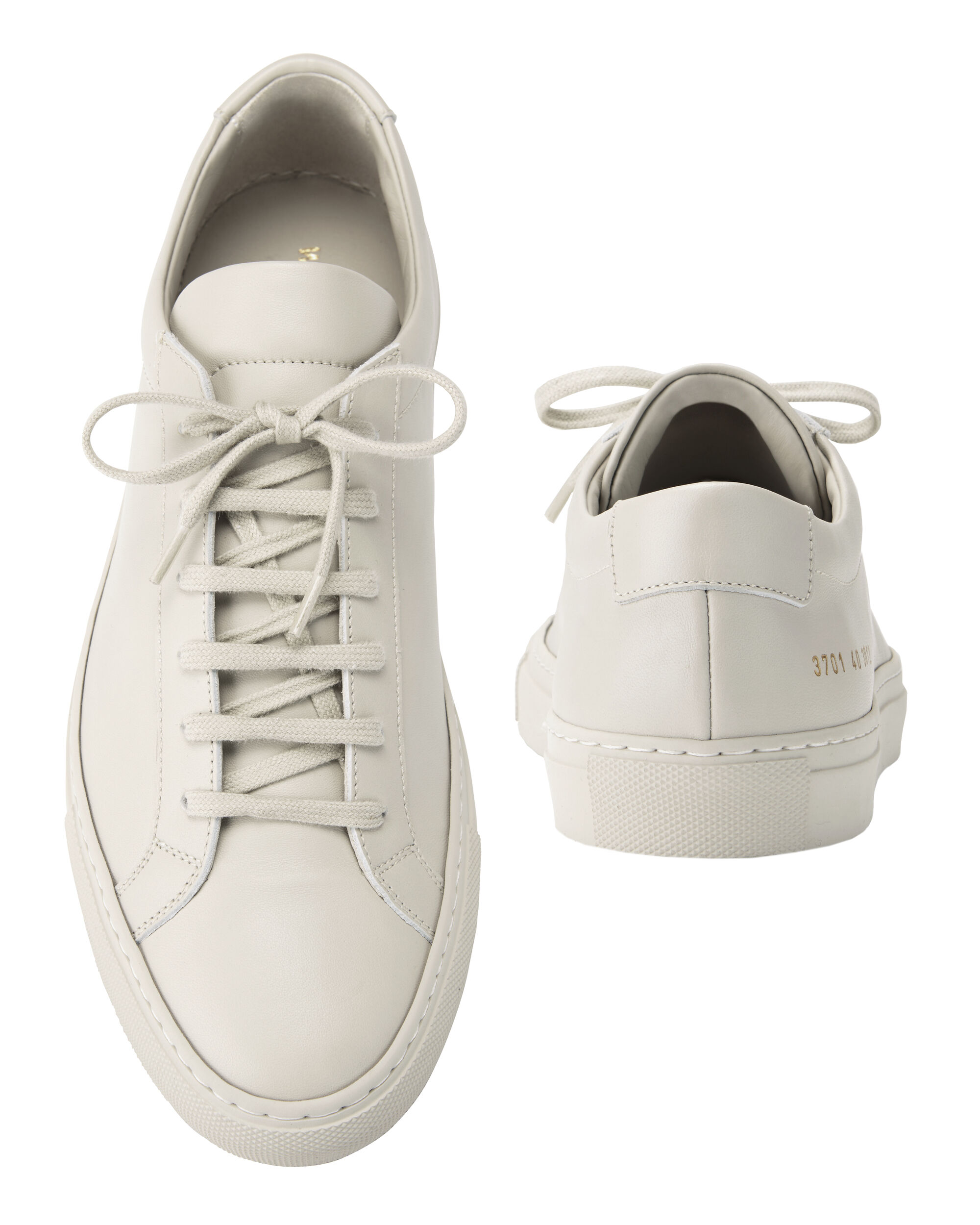 Achilles Low-Top Grey Leather Sneakers, GREY, hi-res