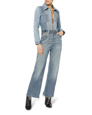 Flared Denim Jumpsuit, DENIM, hi-res