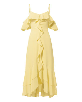 Freja Ruffle High-Low Dress, YELLOW, hi-res