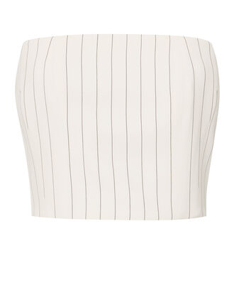 Pinstripe Bustier Top, STRIPE, hi-res