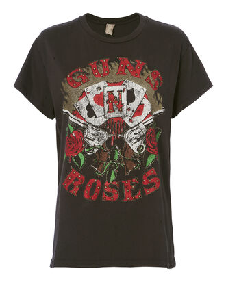 Guns N' Roses Poker T-Shirt, BLACK, hi-res