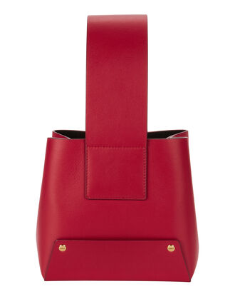 Tab Shoulder Bag, RED, hi-res