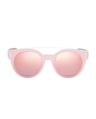 Pink Rubber Logo Sunglasses, BLUSH, hi-res