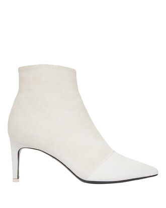 Beha White Booties, WHITE, hi-res
