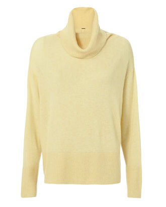 Brushed Cashmere Turtleneck, YELLOW, hi-res