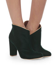 Eula Green Velvet Booties, GREEN, hi-res