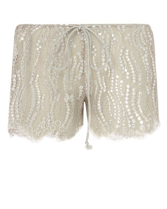Minnie Chantilly Lace Shorts, METALLIC, hi-res