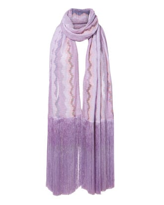 Fringe Wrap Shawl, PURPLE-LT, hi-res