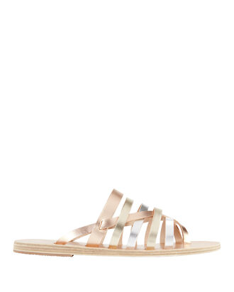 Gaia Two-Tone Metallic Sandals, COLORBLOCK, hi-res