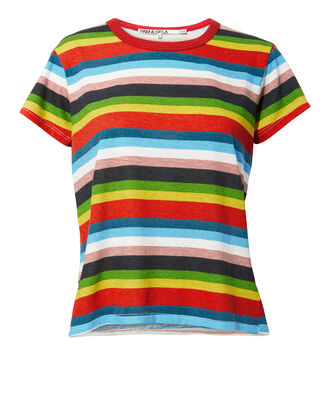 Rainbow Striped Tee, MULTI, hi-res