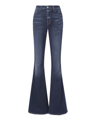Solana Diamond Flare Jeans, DENIM, hi-res