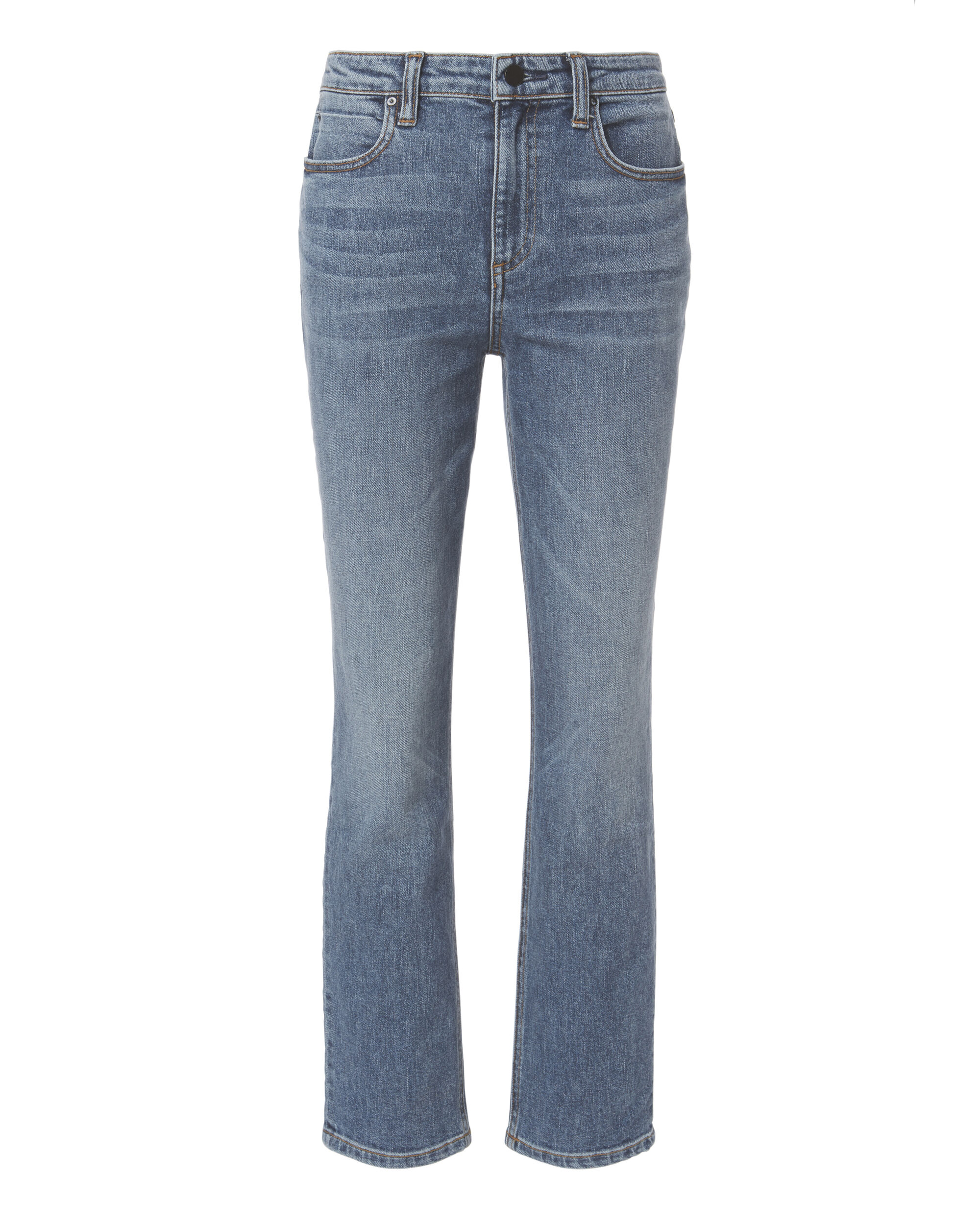 Indigo High-Rise Straight Jeans, BLUE, hi-res