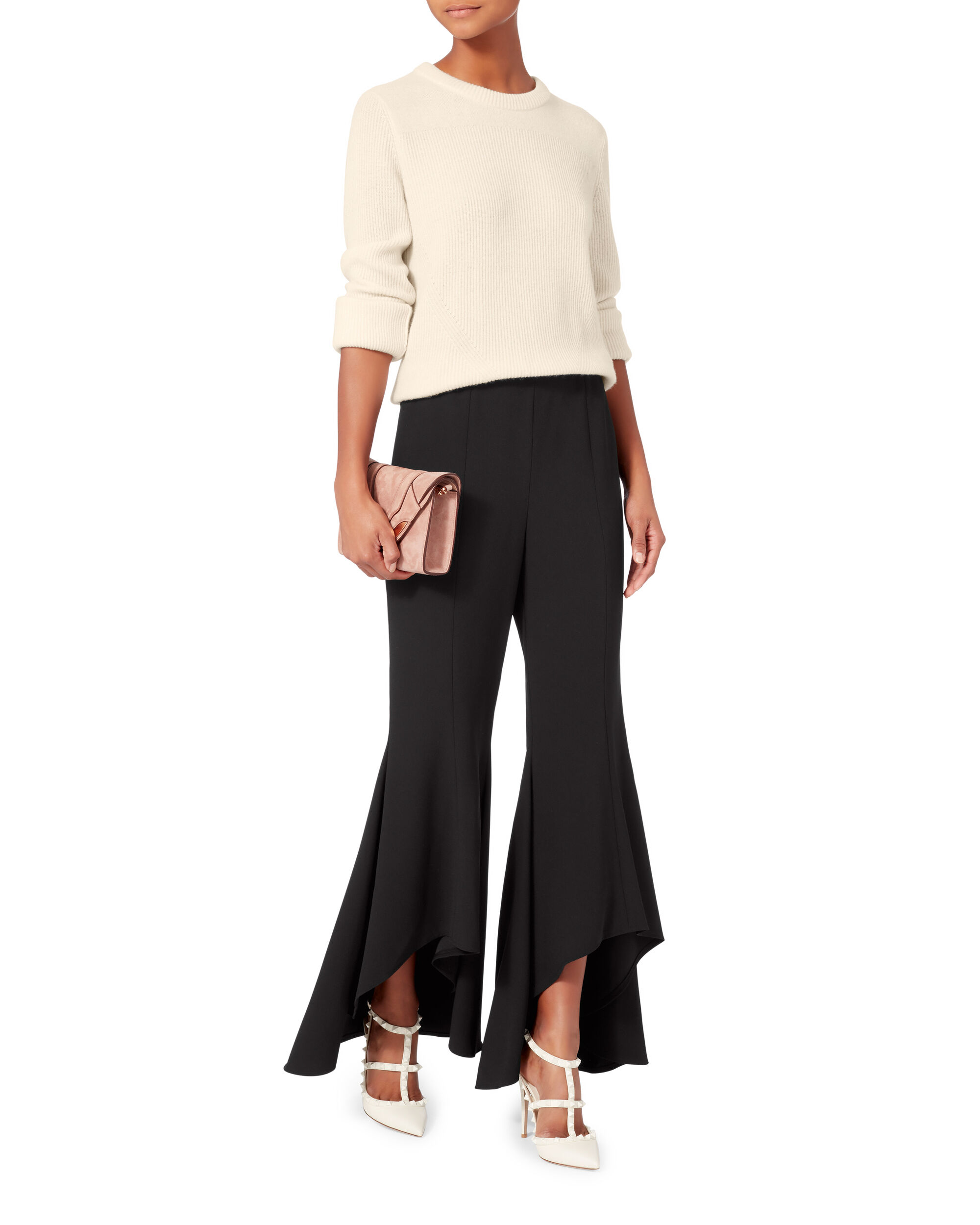 Ace Cropped Sweater, IVORY, hi-res