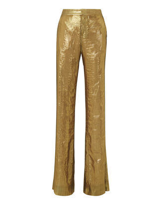 Lamé Wide Leg Trousers, METALLIC, hi-res