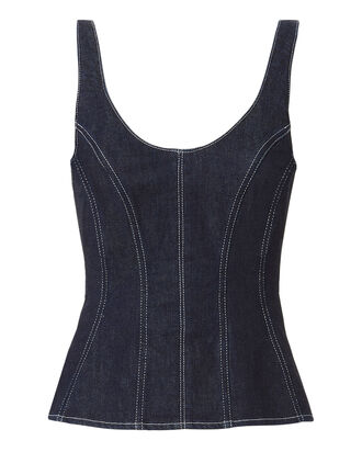 Corset Denim Top, DENIM-DRK, hi-res