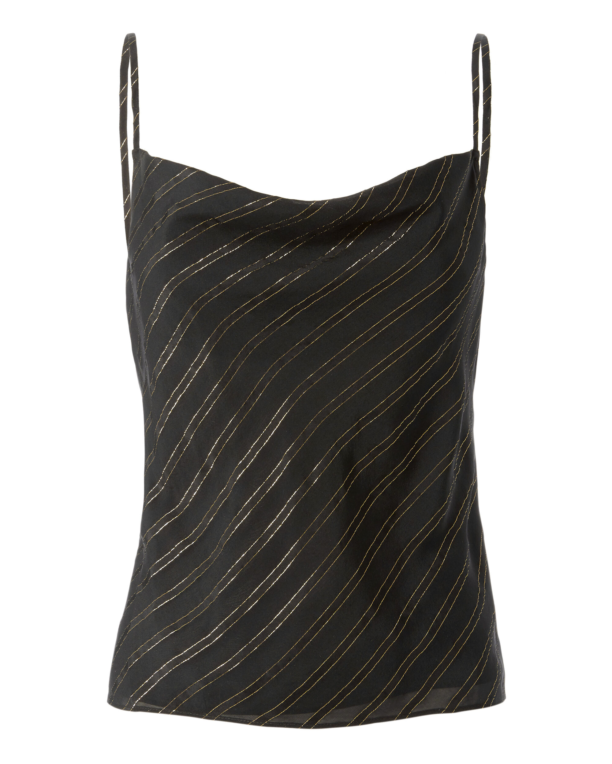 Elaine Metallic Stripe Cami, BLACK, hi-res