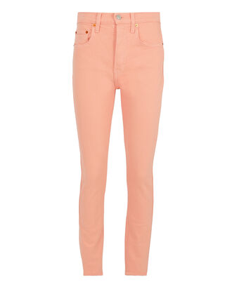High-Rise Pink Skinny Jeans, PINK, hi-res