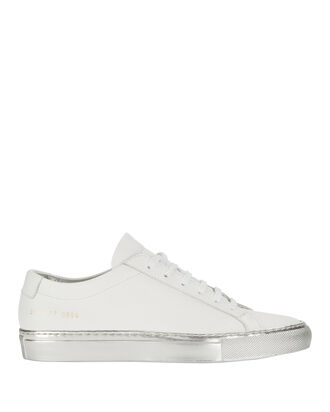 Achilles Silver Sole Low-Top Sneakers, WHITE, hi-res