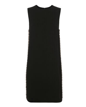 Crystal-Embellished Shift Dress, BLACK, hi-res