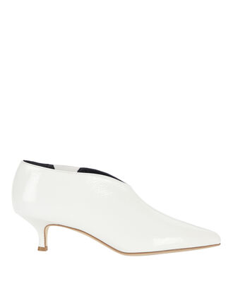 Joe Patent Leather Kitten Heel Booties, WHITE, hi-res