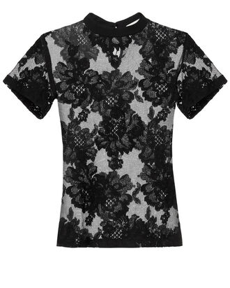 Black Lace T-Shirt, BLACK, hi-res