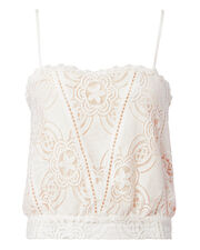 Chantilly Lace Cami, IVORY, hi-res
